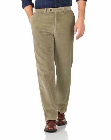 Light brown classic fit jumbo cord pants
