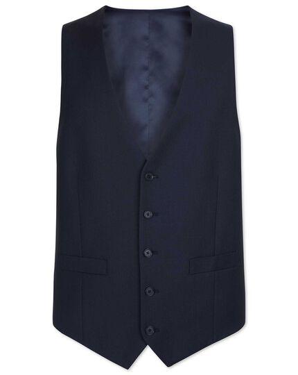 Navy adjustable fit herringbone business suit vests