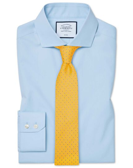 Slim fit cutaway non-iron natural cool sky blue shirt
