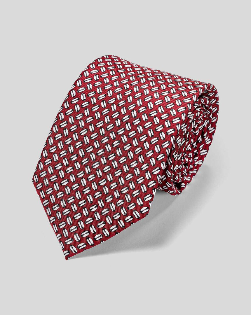 England Rugby Rugby Ball Tie - Burgundy