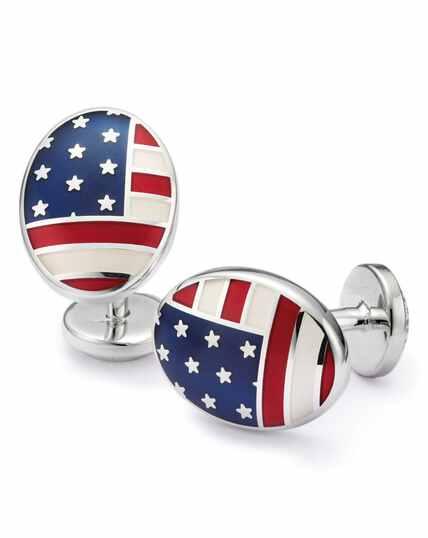 US flag enamel cufflinks