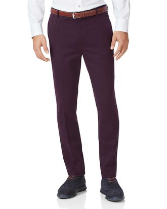 Wine extra slim fit flat front non-iron chinos