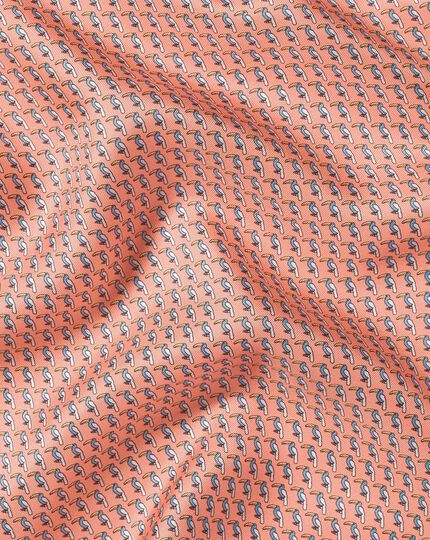 Toucan Print Pocket Square - Orange & Sky