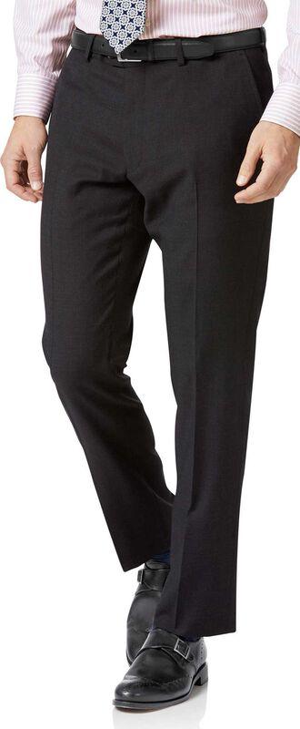Pantalon de costume business anthracite en twill slim fit
