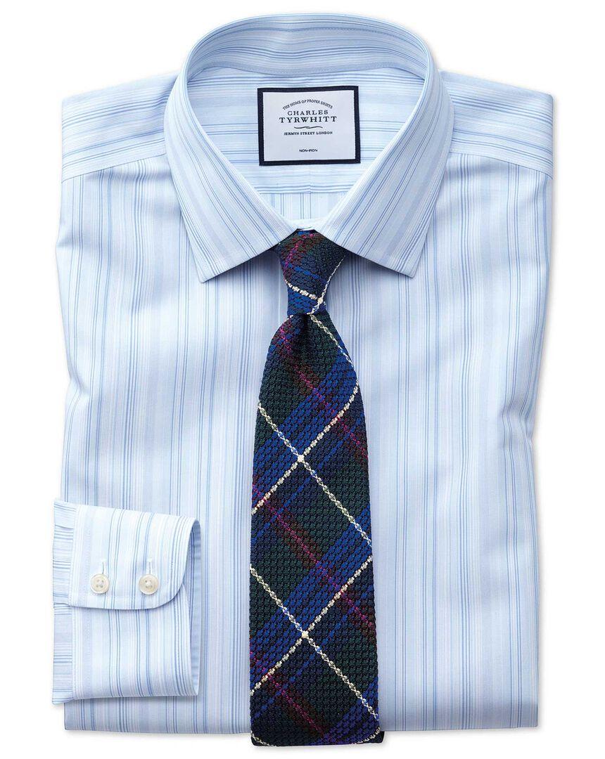 Non-Iron Stripe Shirt - Blue Multi