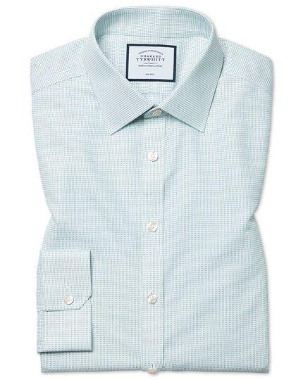 Bügelfreies Super Slim Fit Hemd aus Dash-Gewebe in Grün