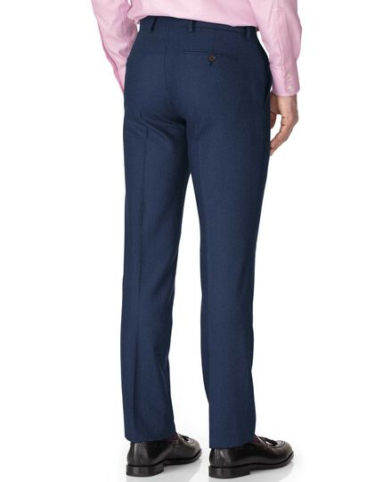 Blue slim fit saxony business suit pants