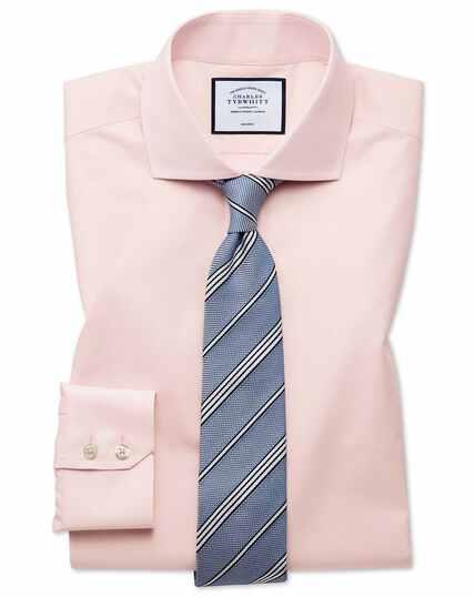 Slim fit non-iron Tyrwhitt Cool poplin peach shirt