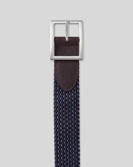 Reversible Casual Stretch Belt - Navy Multi