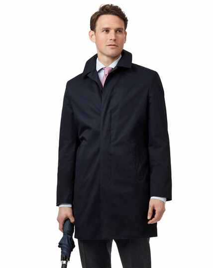Navy Italian raincoat