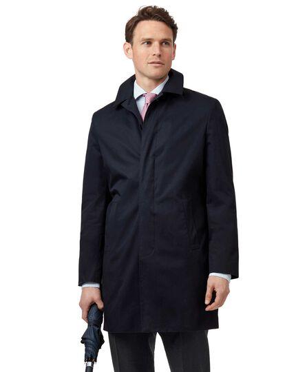 Navy Italian raincoat