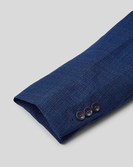 Italienisches Luxussakko aus Wolle - Blau