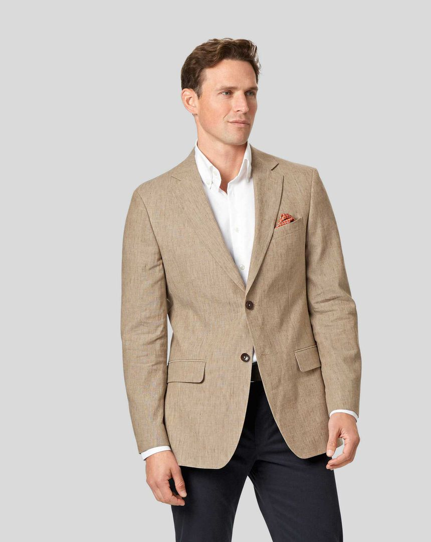 Cotton Linen Jacket - Tan