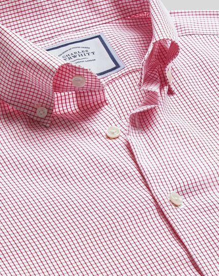 Button-Down Collar Non-Iron Check Shirt - Red