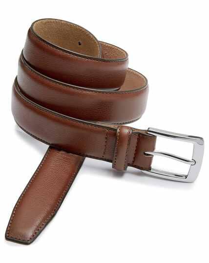 Tan leather smart belt