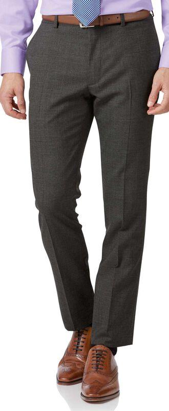 Extra Slim Fit Businessanzug-Hose aus Merino in Grau