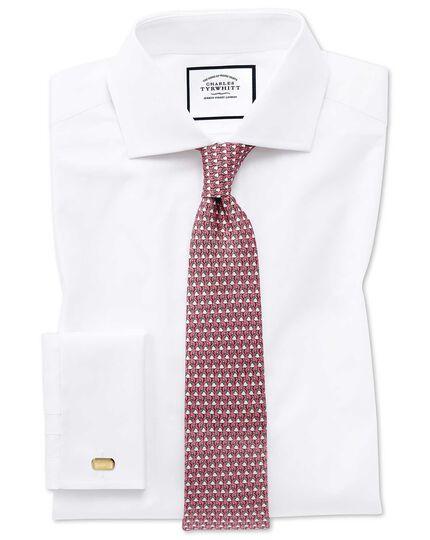 Klassische Krawatte mit Flamingomuster in Korallenrot