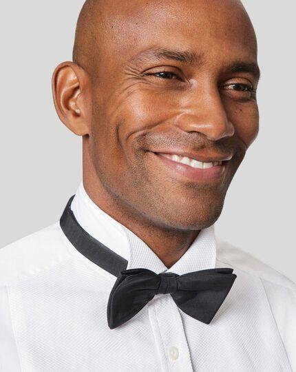 Wing Collar Marcella Bib Tuxedo Shirt  - White