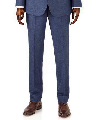 Airforce blue slim fit flannel business suit pants
