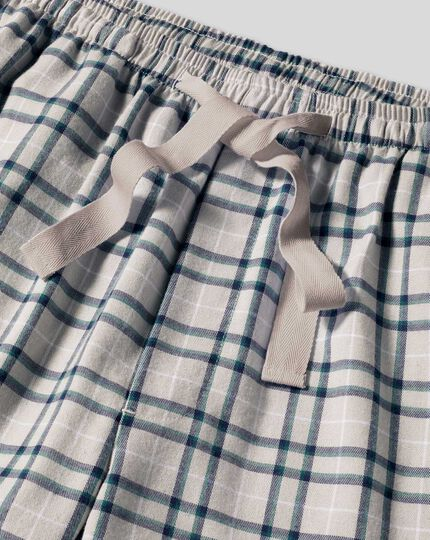 Check Pyjama Bottoms - Grey & Navy