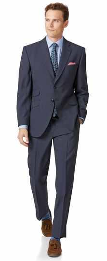Britischer Anzug Classic Fit Panamagewebe in Blau