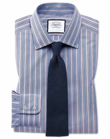 Classic fit red multi stripe Egyptian cotton shirt