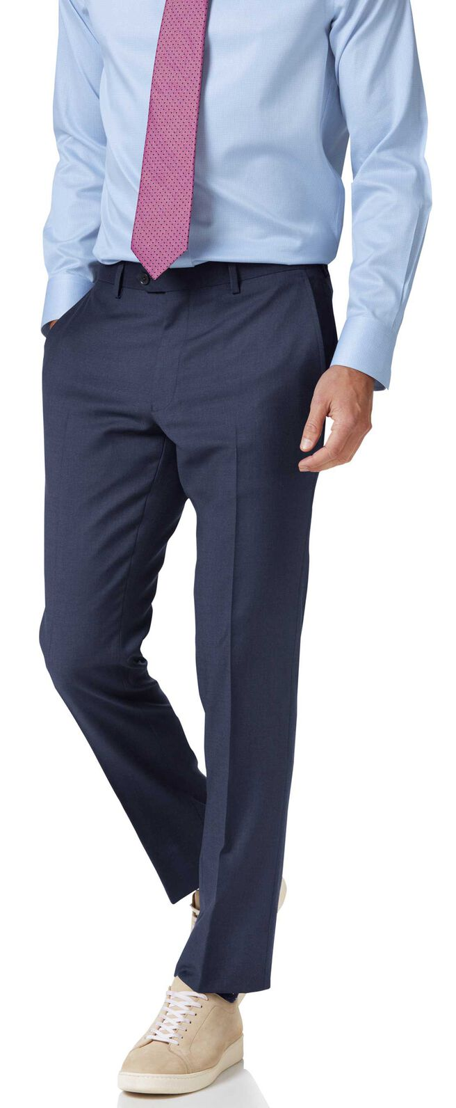 Costume business bleu en twill slim fit