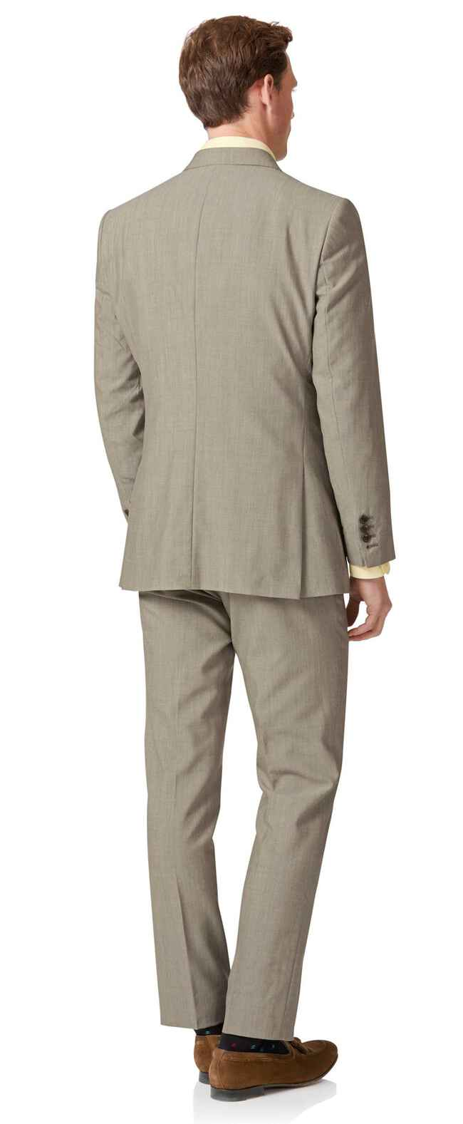 Natural Panama slim fit British suit