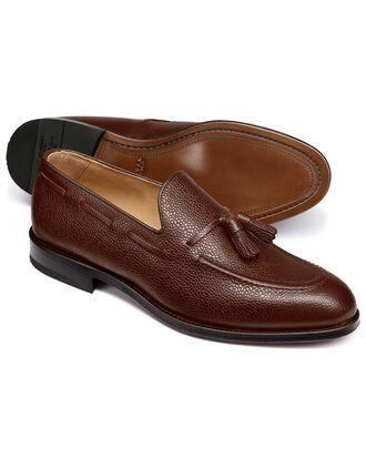Brown Keybridge tassel loafers