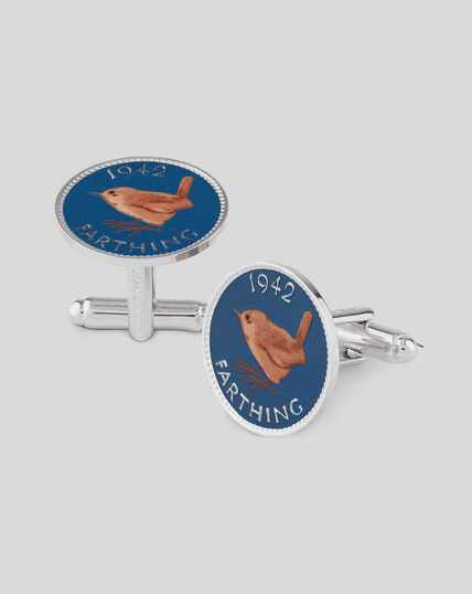 Printed Farthing Coin Cufflink