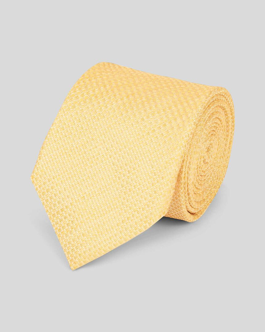Linen Silk Tie - Yellow