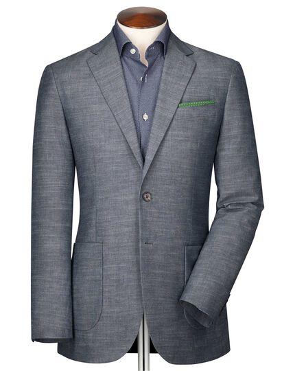 Slim fit chambray semi-plain jacket