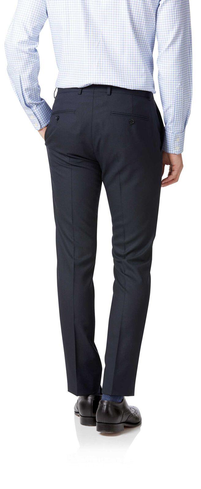 Midnight blue extra slim fit merino business suit