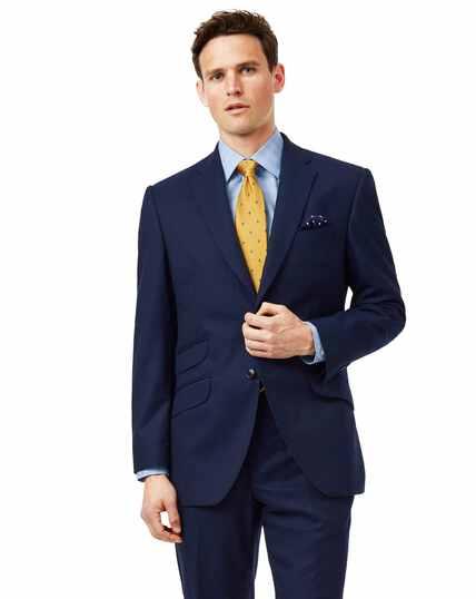 Blue classic fit British luxury suit jacket