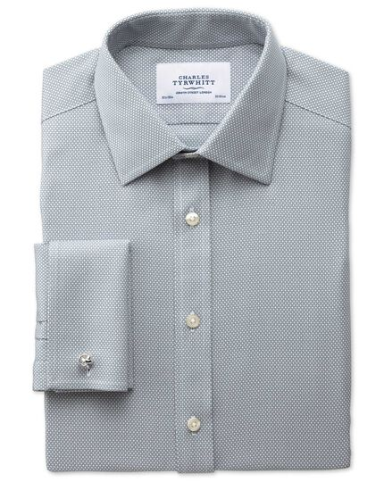 Bügelfreies Extra Slim Fit Hemd in Grau mit Waffelmuster
