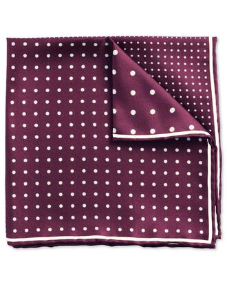 Burgundy classic quarter spot pocket square
