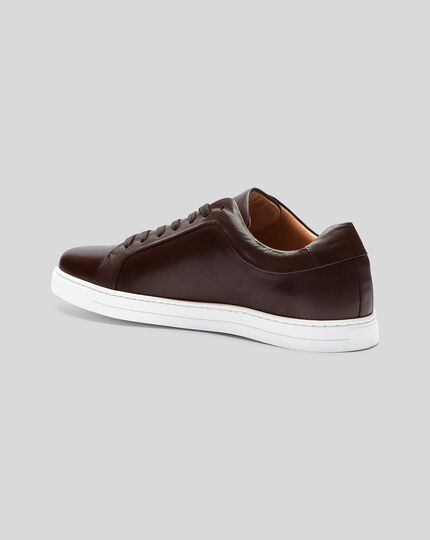 Leather Sneaker  - Brown