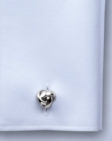 Knot silver plated cufflinks