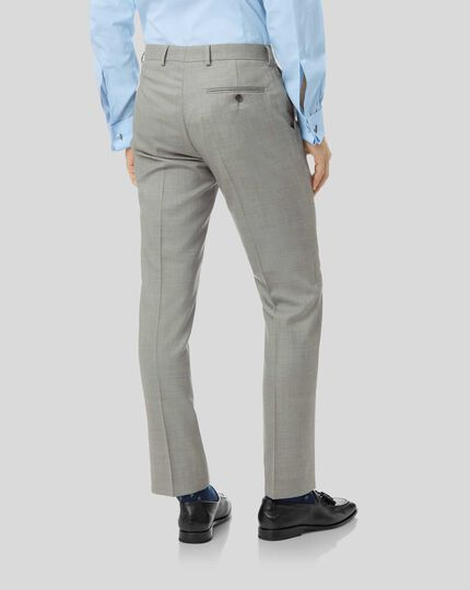 Sharkskin Travel Suit Pants - Silver