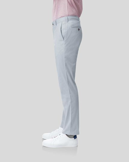 Fine Stripe Trousers - Light Blue