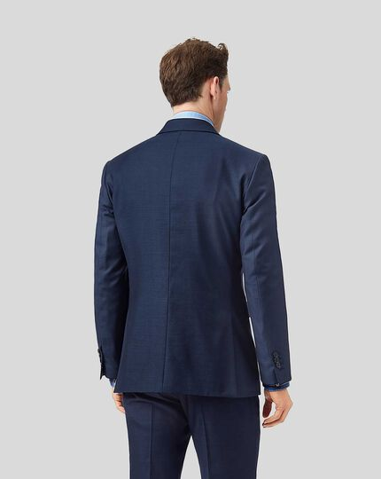 Twill Business Suit Jacket - Blue