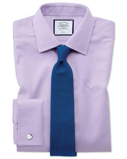 Bright blue silk grenadine italian luxury tie