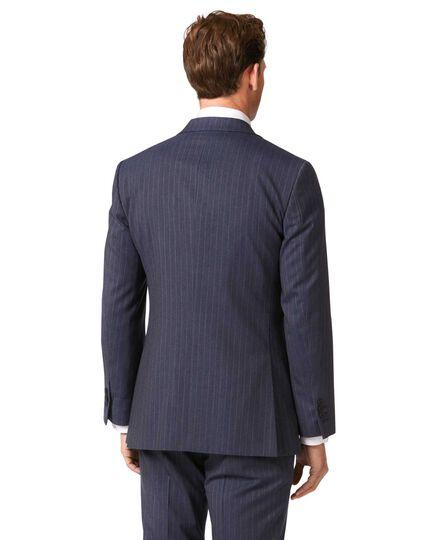 Businessanzug-Sakko Slim Fit Panamagewebe mit Streifen in Airforceblau