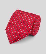 Klassische Krawatte aus Seide mit Marienkäfer Print - Rot