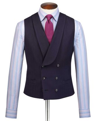 Navy adjustable fit British luxury suit vest