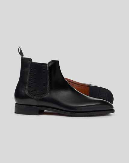 Goodyear Welted Chelsea Boots  - Black