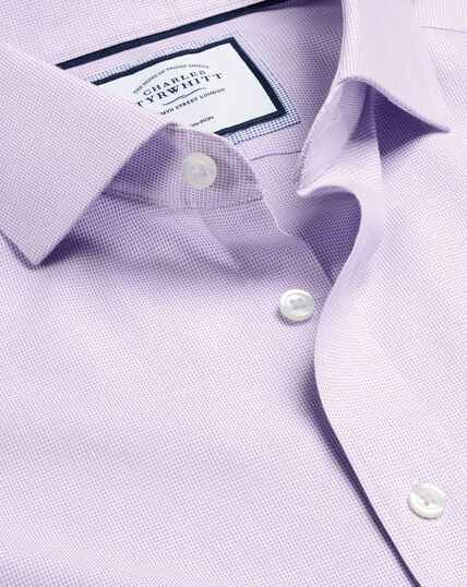Cutaway Collar Non-Iron Ludgate Weave Shirt - Lilac