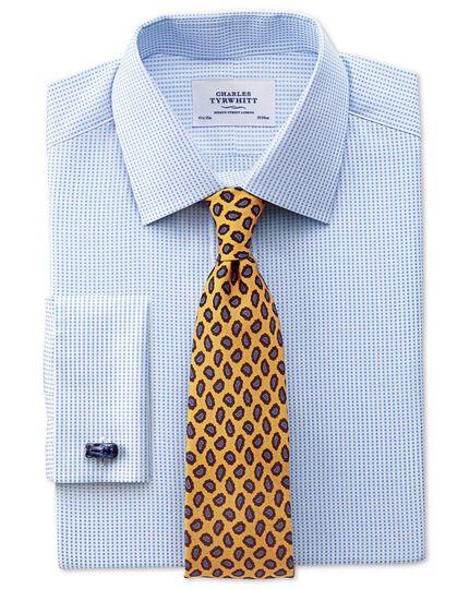 Classic fit Pima cotton double-faced sky blue shirt