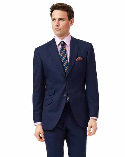 Blue slim fit British luxury suit jacket