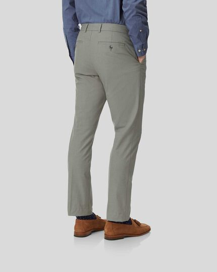 Non-Iron Stretch Pants - Green